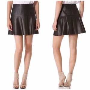VINCE Leather Skirt, size 0, NEW